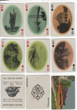 Antique souvenir railways playing cards Southern Pacific Rail-lines